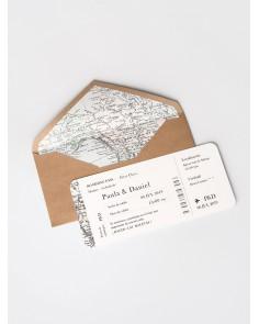 """Invitación de boda """"Mapa"""""""