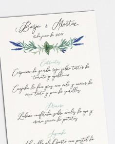 "Minuta ""Jacintos silvestres I"""